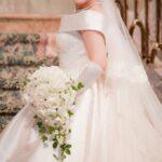 白いバラの結婚式ウェディングブーケ―手作りオーダー作品